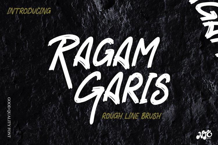 RAGAM GARIS - Brush Font example image 1