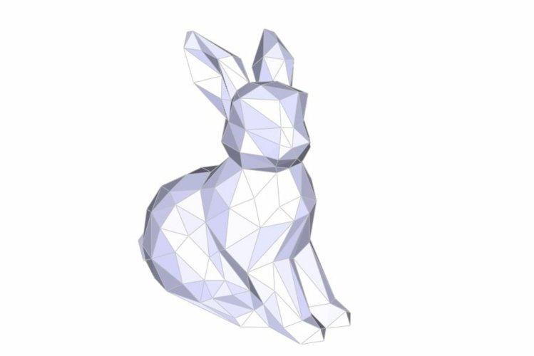 Rabbit 3D Papercraft template