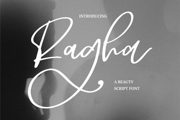 Web Font Ragha - A Beauty Script Font example image 1