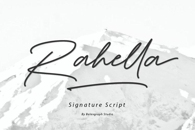 Rahella Handwritten Script Font example image 1