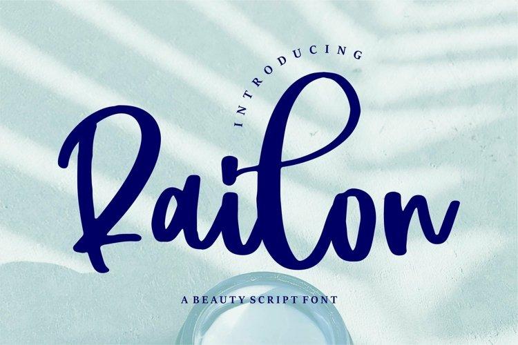 Web Font Railon - A Beauty Script Font example image 1