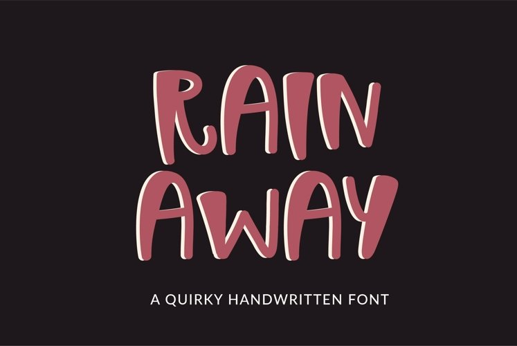 Web Font Rain Away - a quirky handwritten font example image 1