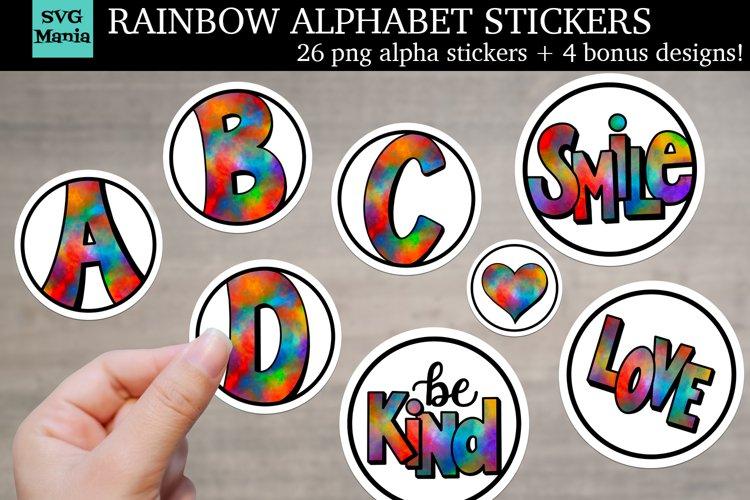 Rainbow Alphabet Stickers, Sticker Bundle, Monogram Stickers