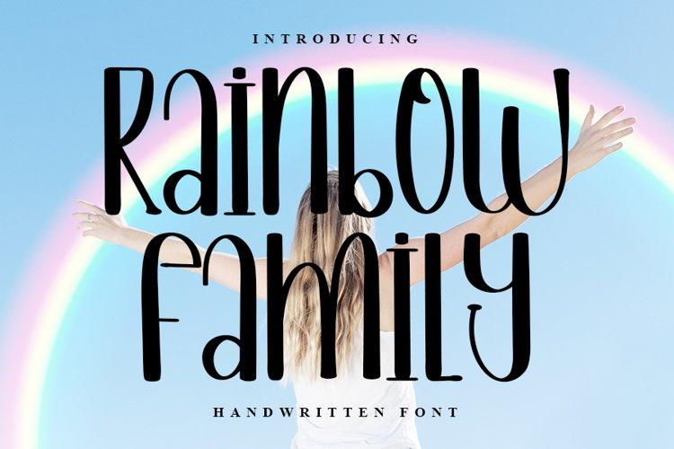 Rainbow Fmily - New Handwritten Font example image 1