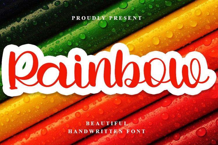 Rainbow - Beautiful Handwritten Font example image 1
