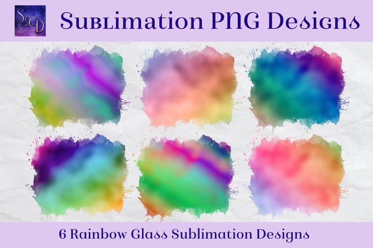 Sublimation PNG Designs - Rainbow Glass Multicolour Images