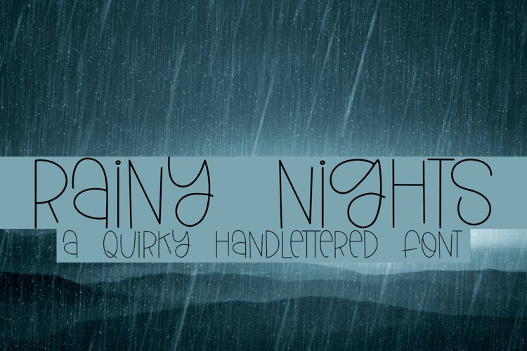 Web Font Rainy Nights - A Quirky Handlettered Font example image 1