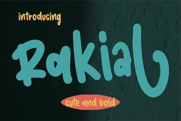 Web Font Rakial - Cute & Bold example image 1