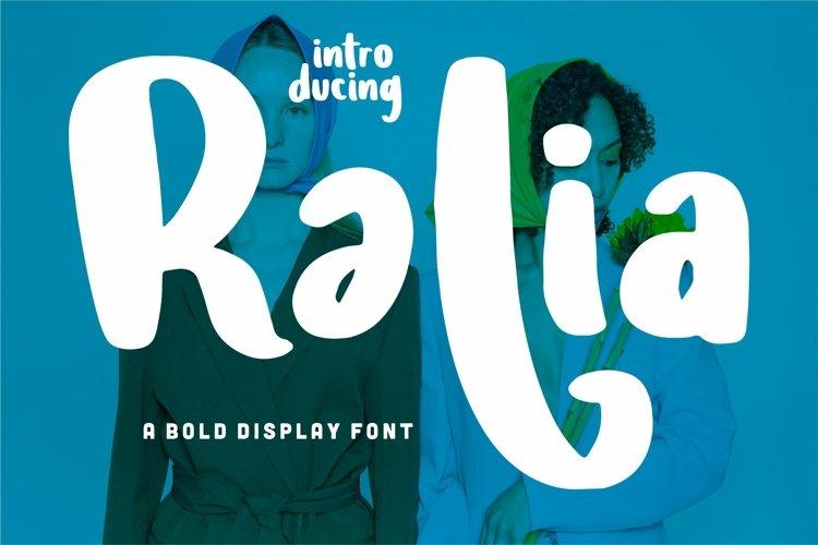 Ralia - A Bold Display Font example image 1
