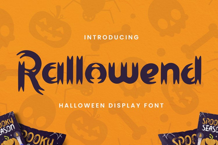 Rallowend - A Halloween Font example image 1