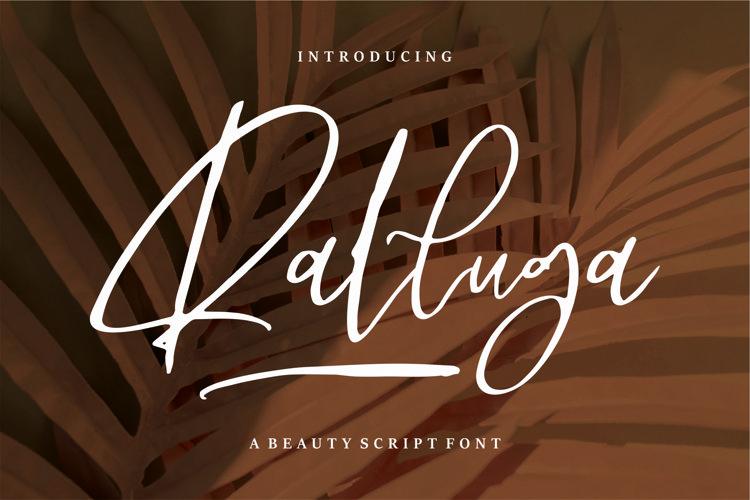 Ralluga - Beauty Script Font example image 1