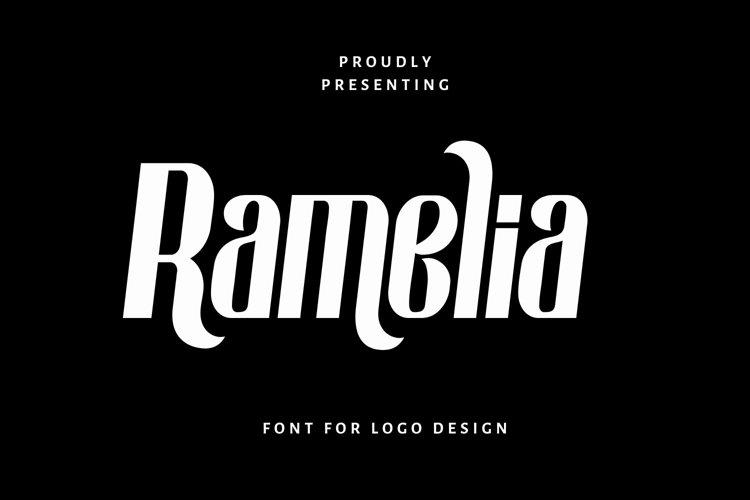 Web Font Ramelia - Logo Font example image 1