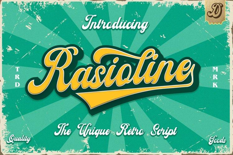 Rasioline unique retro font example image 1