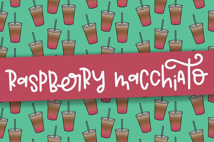 Raspberry Macchiato a Hand Lettered Font example image 1