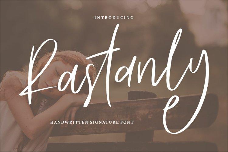 Rastanly - Handwritten Signature Font