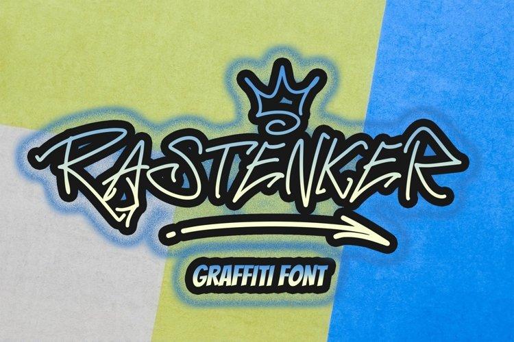 RASTENKER - Graffiti Font example image 1