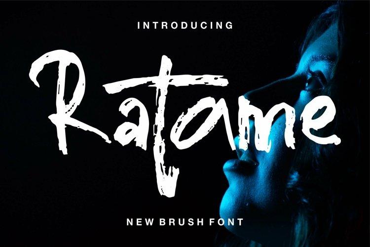 Web Font Ratame - New Brush Font example image 1