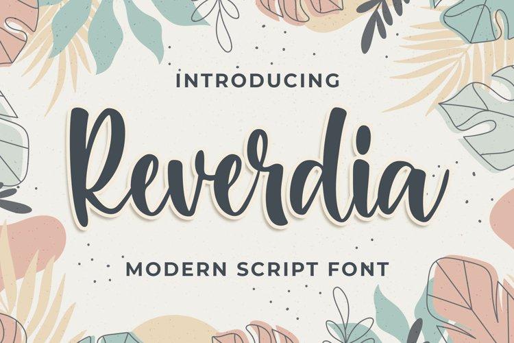 Raverdia Modern Script Font