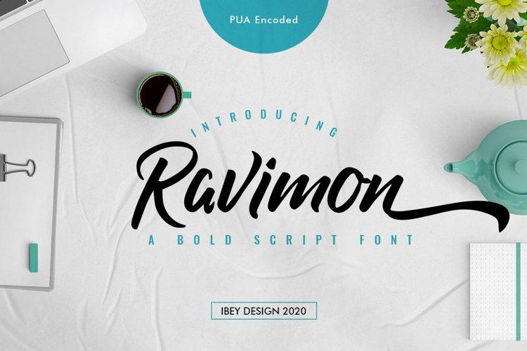 Ravimon - Bold Script Font example image 1