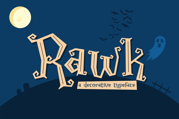 Rawk - a decorative typeface example image 1