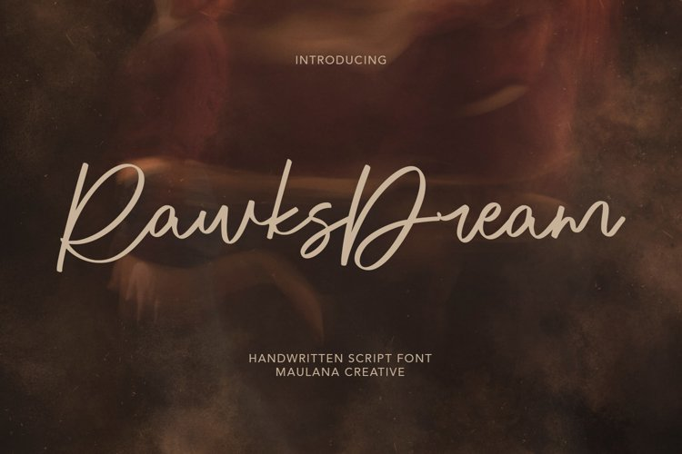 Rawks Dream Handwritten Script Font example image 1