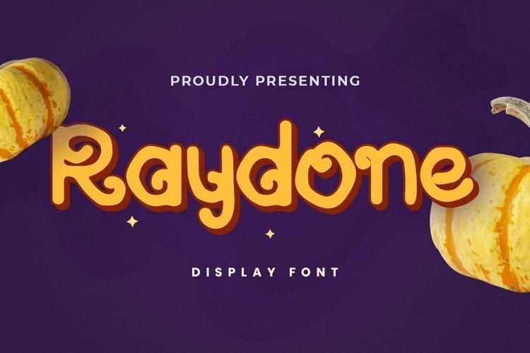 Web Font Raydone - Halloween Font example image 1