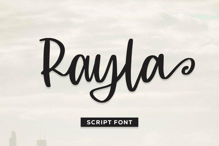 Web Font Rayla - Script Font example image 1