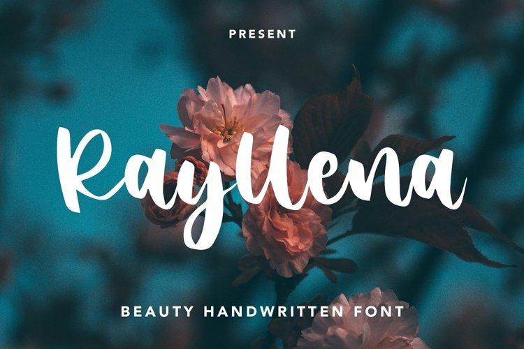 Web Font Rayllena - Beauty Handwritten Font example image 1