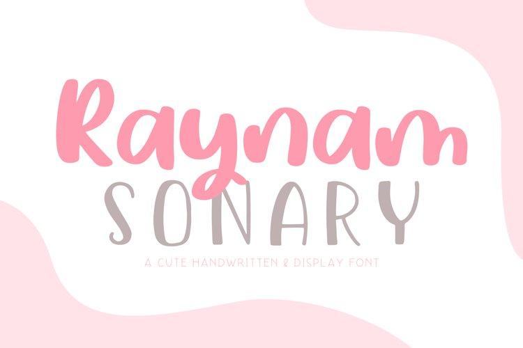 Raynam Sonary Font Duo example image 1
