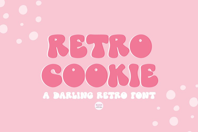 RETRO COOKIE Playful Vintage Font example image 1