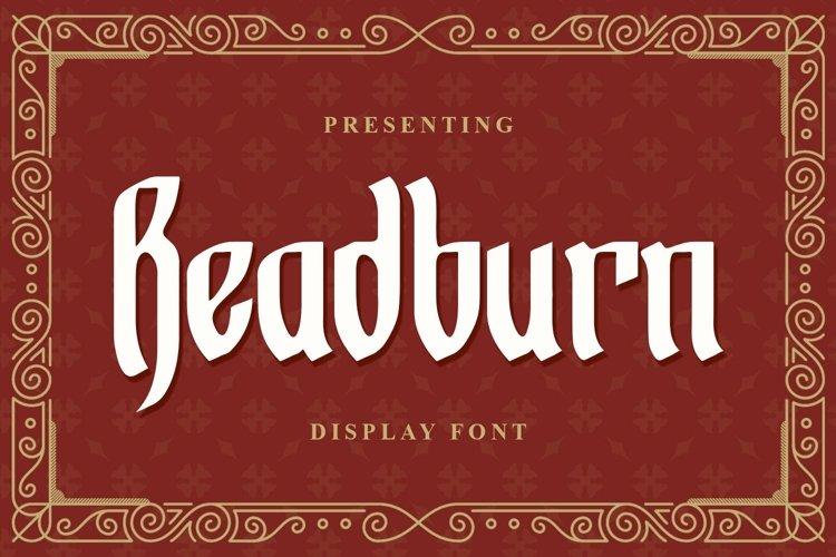 Web Font Readburn - Blackletter Font example image 1