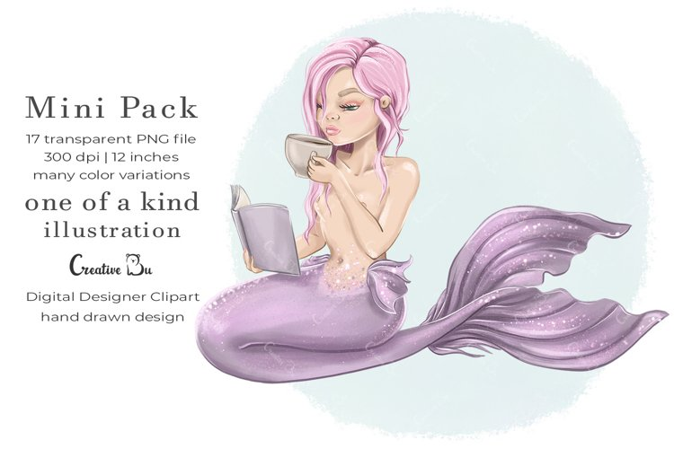 Sunday Mermaid - Clipart