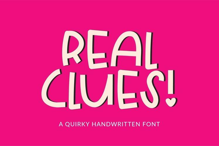 Web Font Real Clues - a quirky handwritten font
