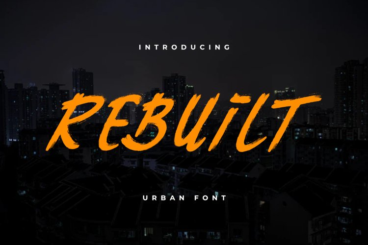 Rebuilt Urban font example image 1