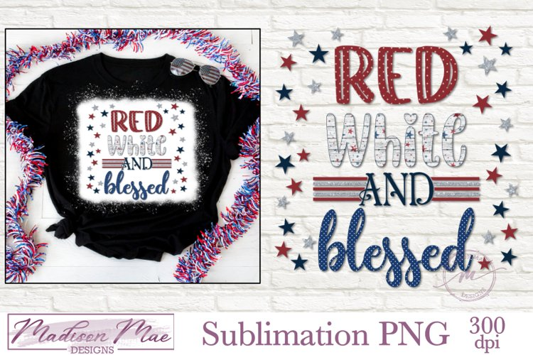 Sublimation Design - Fourth of July Patriotic Quote PNG