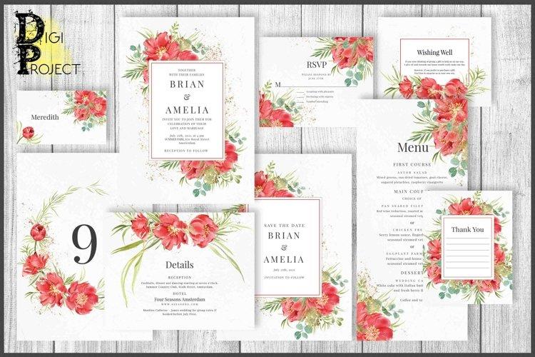 Red Peonies Wedding Suite