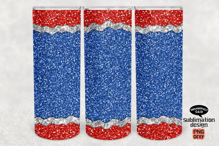 Tumbler Sublimation png, Patriotic July 4th America, Glitter