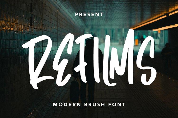 Refilms - Modern Brush Font example image 1