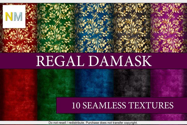 Regal Damask 10 Seamless Matching Fabric Textures