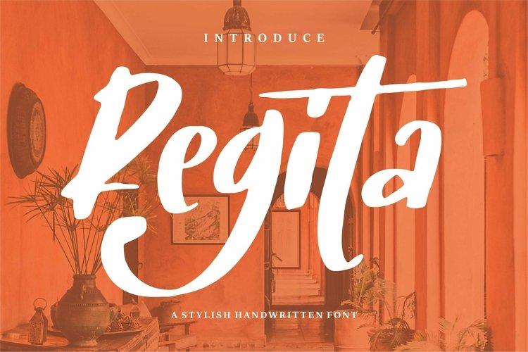 Web Font Regita - A Stylish Handwritten Font example image 1