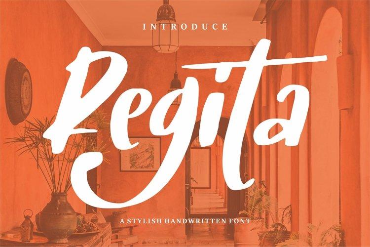 Regita - A Stylish Handwritten Font example image 1