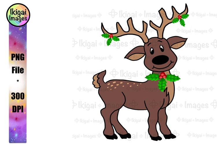 Reindeer Clipart, Christmas Sublimation, Cute Kids PNG Files