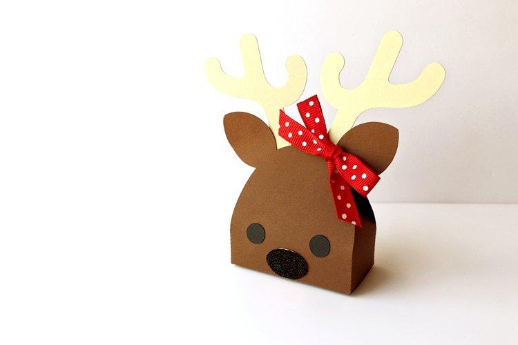 Reindeer Face Gift Box SVG Design