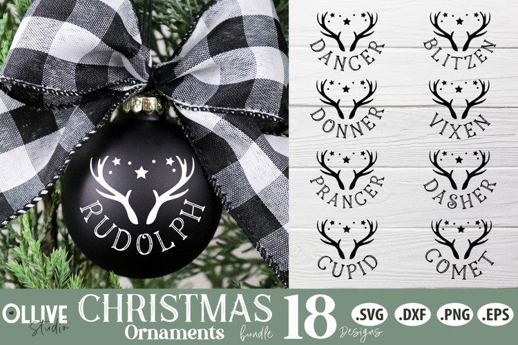 Reindeers Christmas SVG | Christmas Ornaments SVG example image 1
