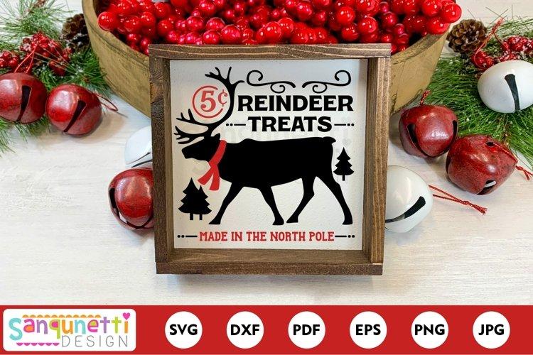 North Pole reindeer treats Christmas svg example image 1