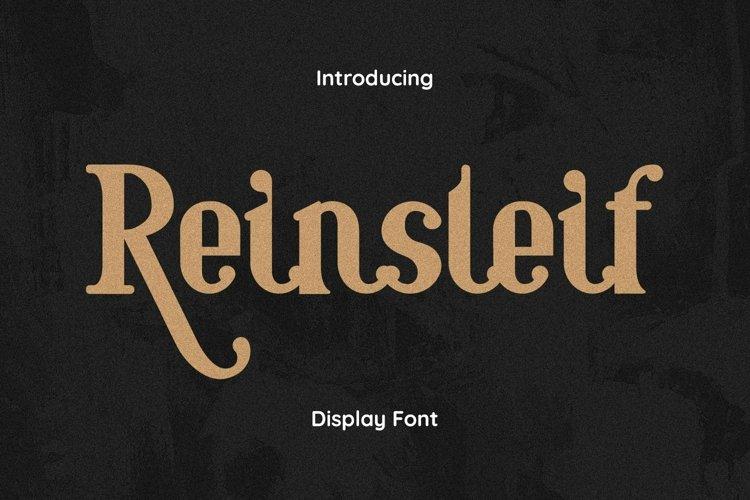 Web Font Reinsleif