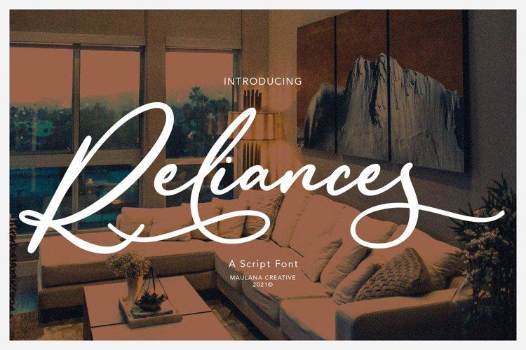Reliances Script Font example image 1