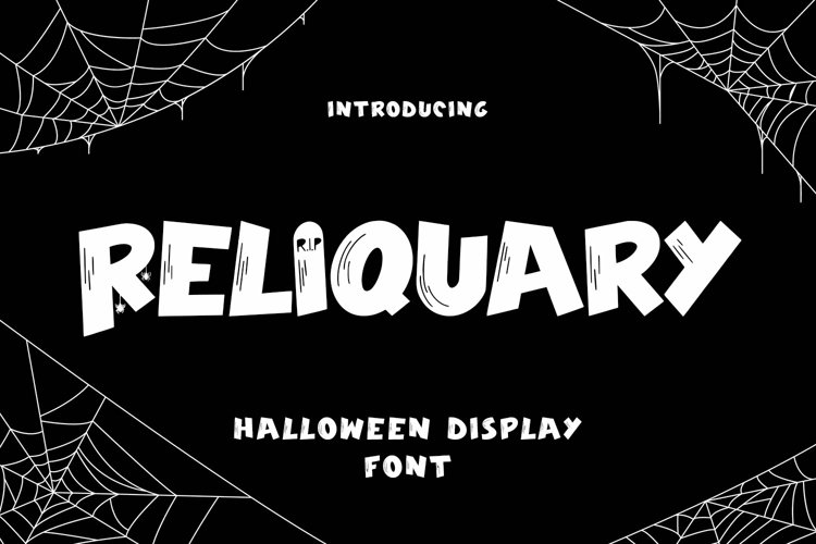 Web Font Reliquary - Halloween Display Font example image 1