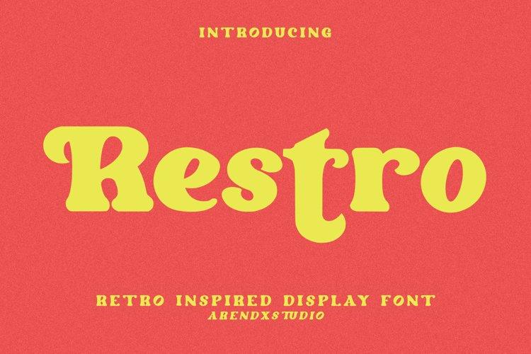 Restro - Retro Inspired Display Font example image 1