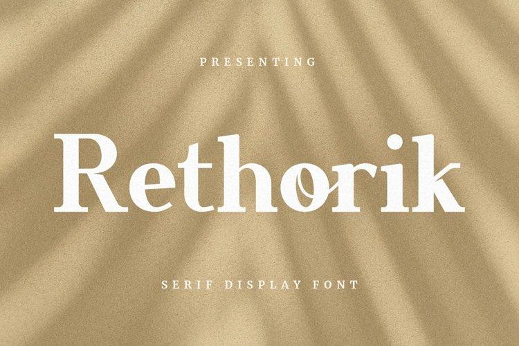 Web Font Rethorik - Display Font example image 1